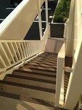 駐車場直結の外階段