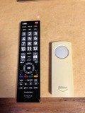 テレビリモコンと照明リモコン