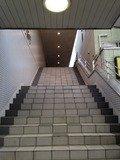 ホテル正面玄関への階段