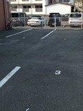 ホテル横の第一駐車場