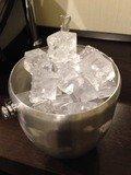 フロントで用意してもらった氷