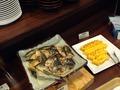 朝食バイキング 焼き魚 卵焼き