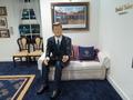米前大統領クリントン氏がお出迎え