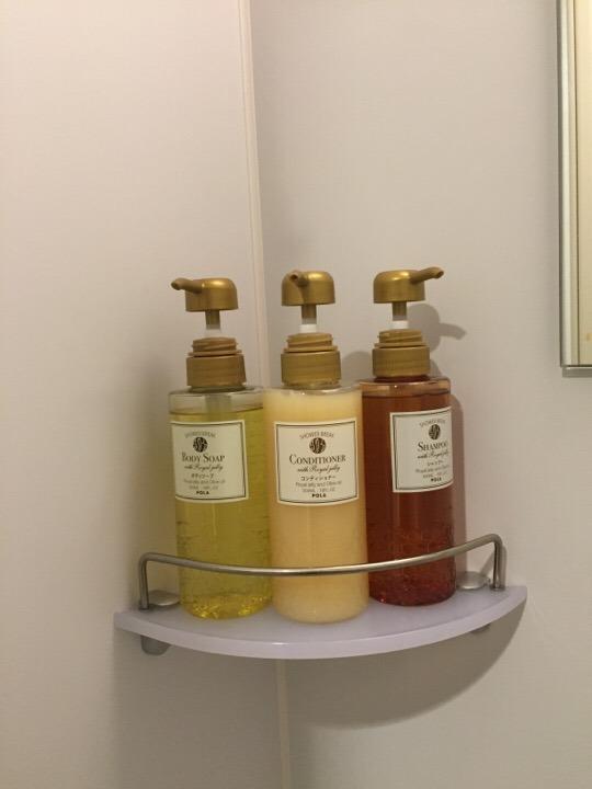シャワー室のシャンプー類