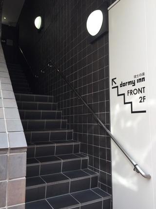外からの階段