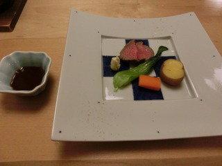 美味しい夕食【十勝牛のフィレロースト】