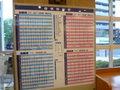 最寄駅の時刻表が掲示されている