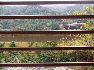 ホテルおかだ部屋についていた露天風呂からの景色