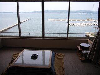 加賀屋の部屋の窓からの景色