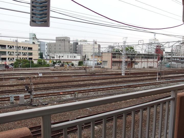 倉敷駅の眺望(西側)