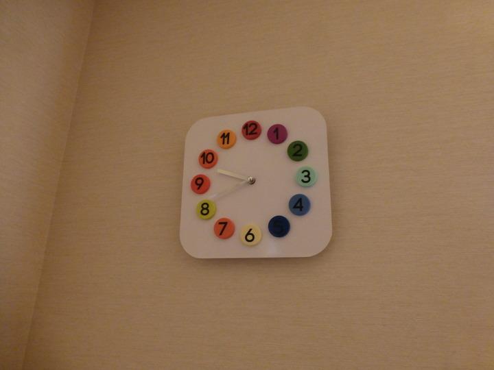 アナログの時計がある
