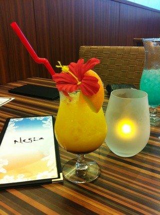 夕食時の飲み物 ハワイらしく
