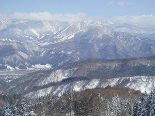 スキー場からの眺めです。