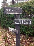 庭にある標識