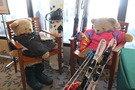 スキー仕様のくまさんたち