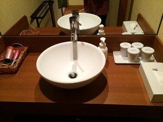 可愛らしい洗面