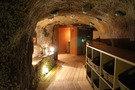 洞窟風呂の脱衣所
