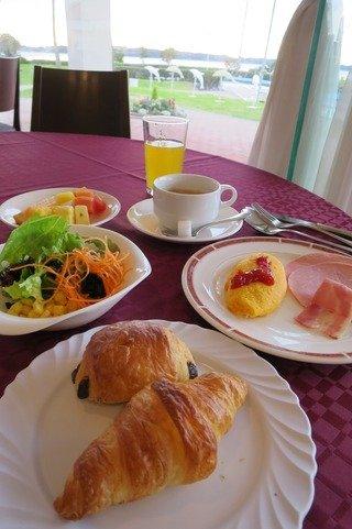 浜名湖を眺めながらの朝食