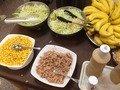 朝食バイキングサラダバナナコーナー