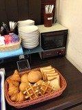 朝食バイキングパンコーナー