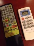 テレビリモコンとエアコンリモコン