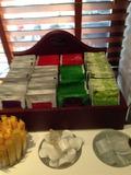 朝食バイキング 紅茶日本茶コーナー
