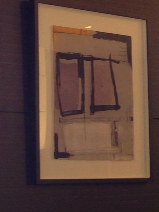 朝食会場の絵画