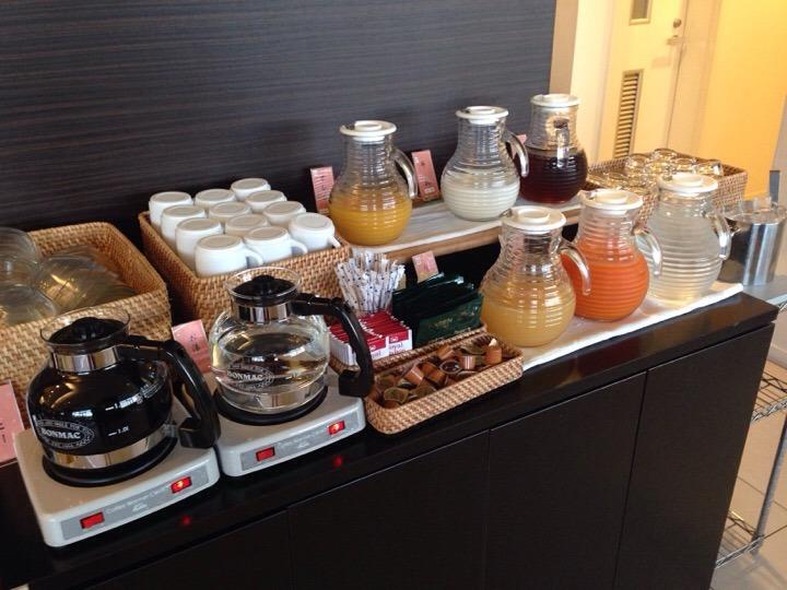 朝食バイキング 飲料コーヒーコーナー