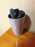 床の間の備長炭