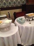 朝食バイキングのヨーグルトやグラタン