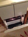 ダブルルームの縦型冷蔵庫