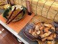 朝食バイキング焼き魚コーナー