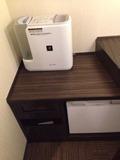 ツインルーム加湿器と冷蔵庫