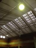館内天井は明かりが入る設計
