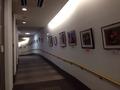 作品展示の廊下