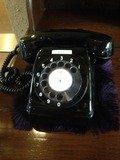 湯上り処の黒電話