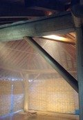 木響の湯 屋根付き外風呂