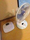 扇風機と体重計