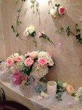 ロビーの花の飾り物