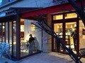 朝食バイキング会場のカフェ