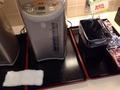 朝食バイキングインスタント味噌汁コーナー