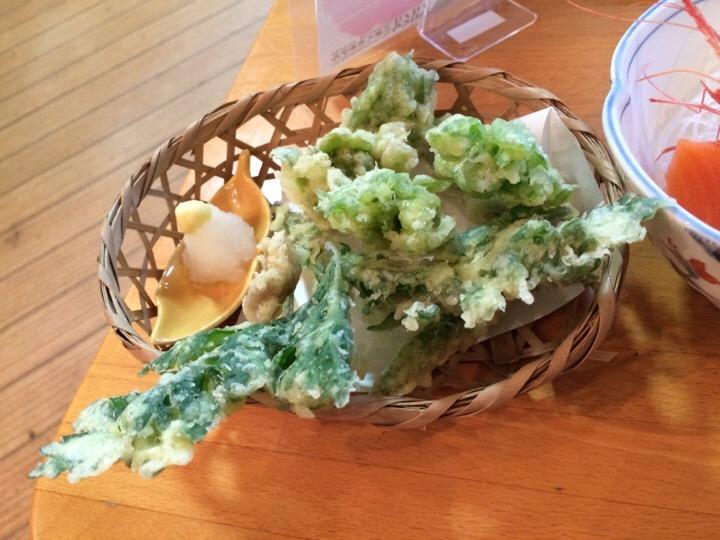 夕食 山菜天ぷら