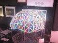 阿南市駅近くの「光のまちステーションプラザ」のLEDを使った展示作品です。