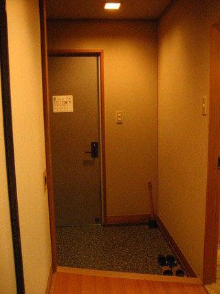 客室の入口の内側です。