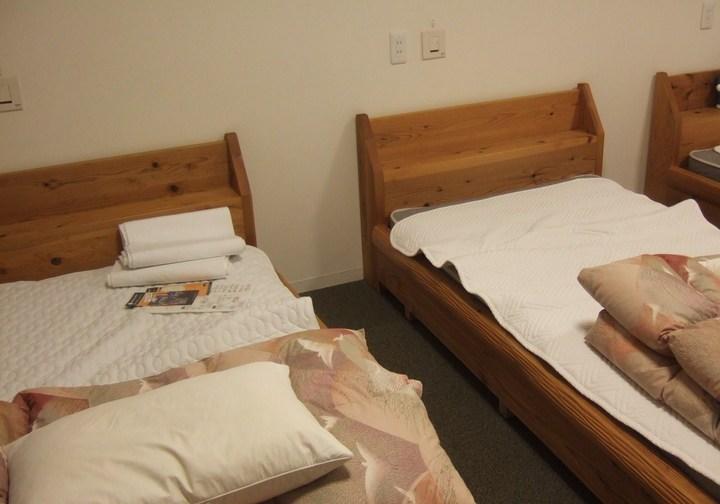 客室のベッドです。