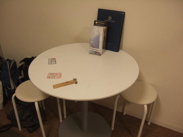 部屋のテーブルです。