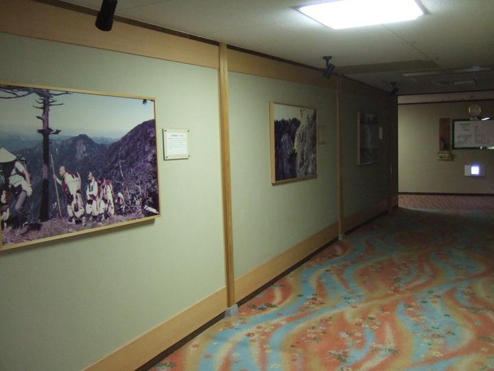 ホテルの廊下です。