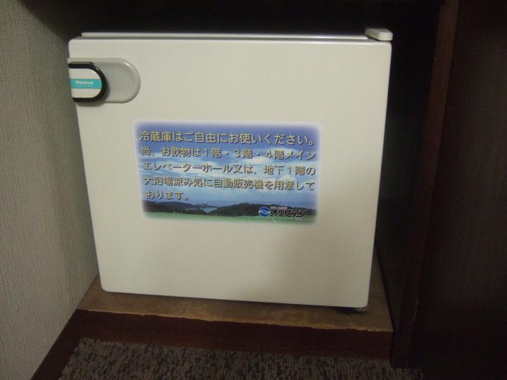 部屋の冷蔵庫です。