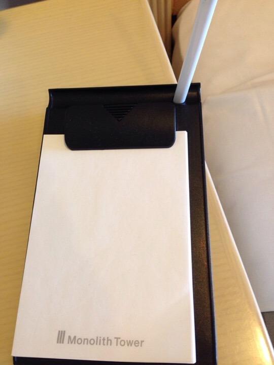 モノリスタワー客室メモ用紙