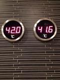 モノリスタワーすみの湯温度表示